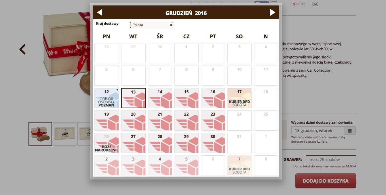 kalendarz dostaw Extreme Commerce