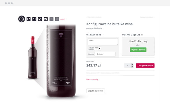 Konfigurator butelki do wina Best.Net E-commerce