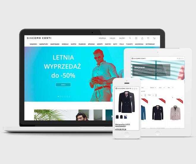 Realizacja E-Commerce dla Giacomo Conti - sklep internetowy