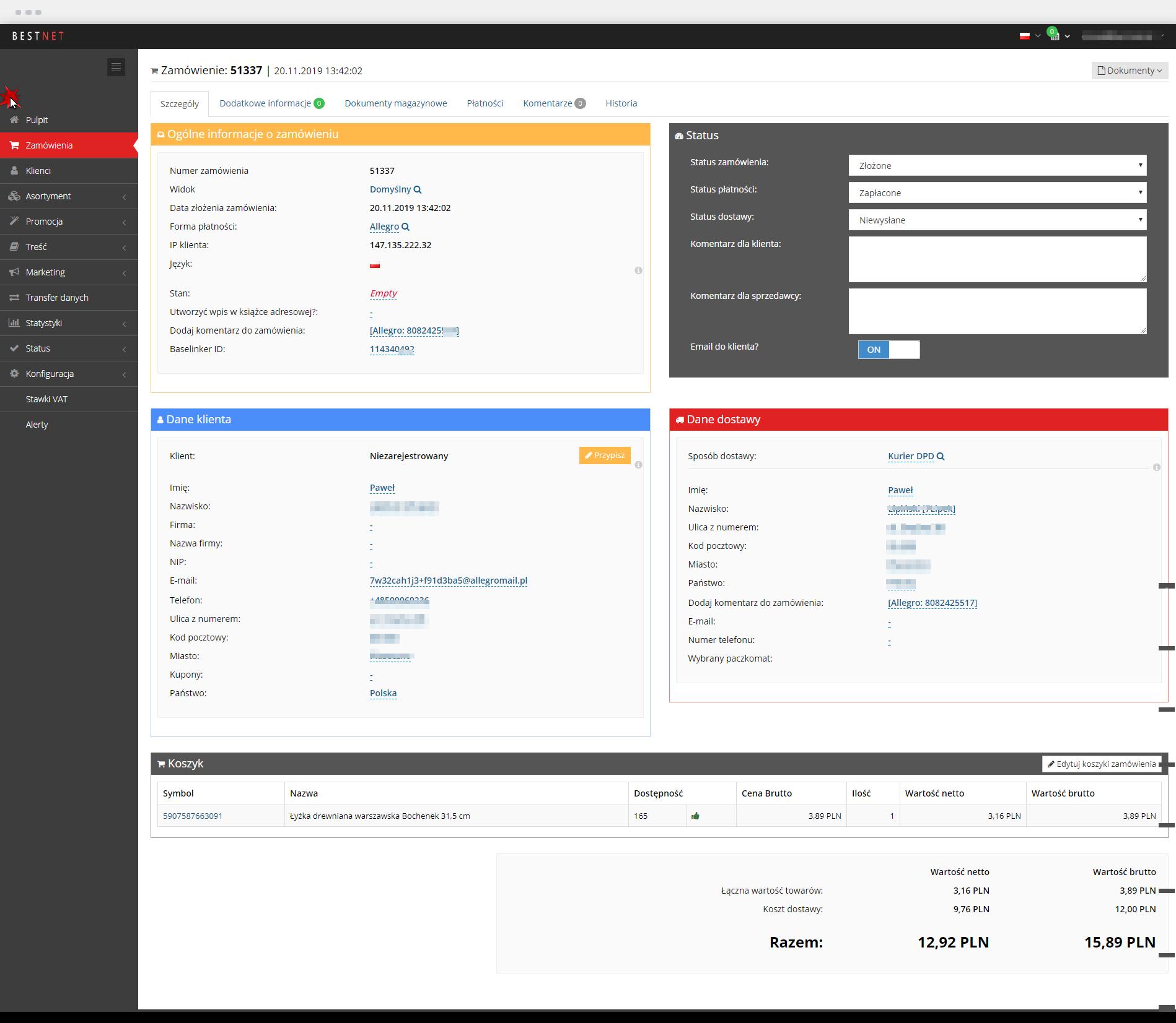 Integracja e-sklepu z BaseLinker