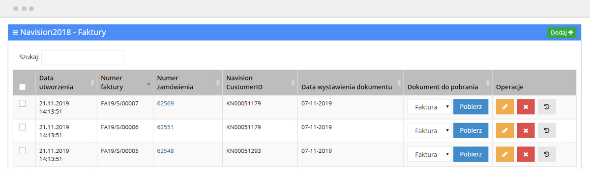 Import dokumentów do EC - Integracja z Microsoft Navision