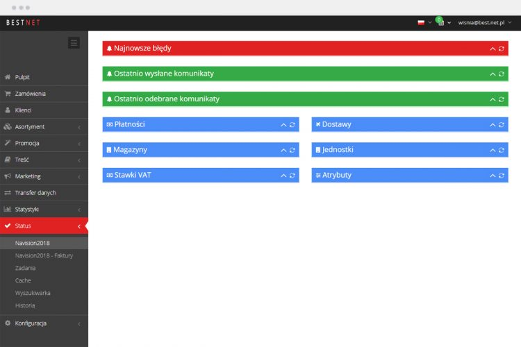 Panel kontrolny - Integracja z Microsoft Navision